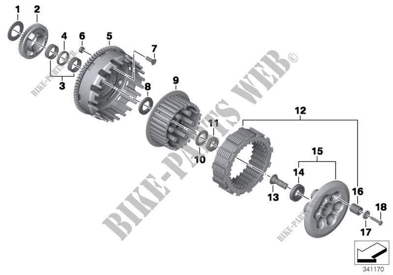Embrayage pièces singul. pour BMW F 800 GS 17 de 2014