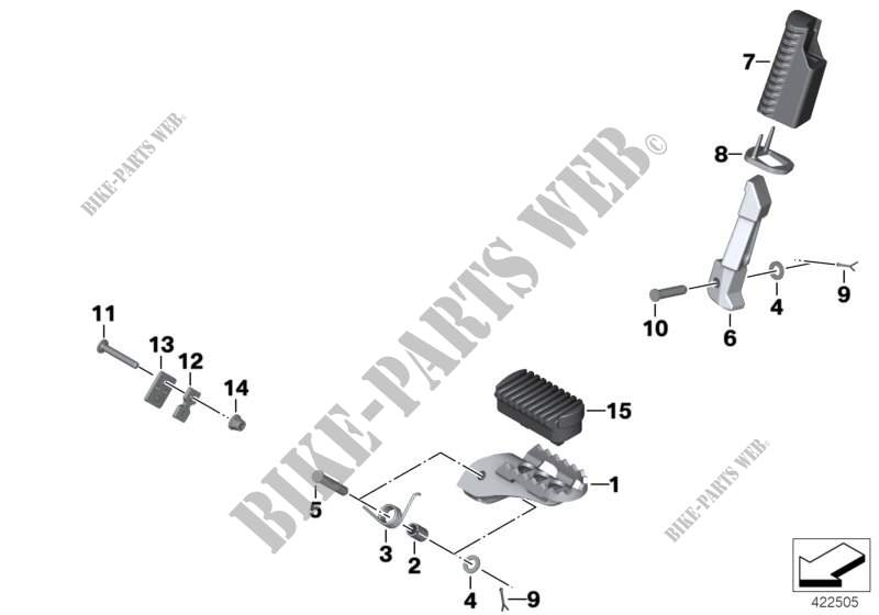 Repose pieds pour BMW F 800 GS 17 de 2014 # BMW Motos