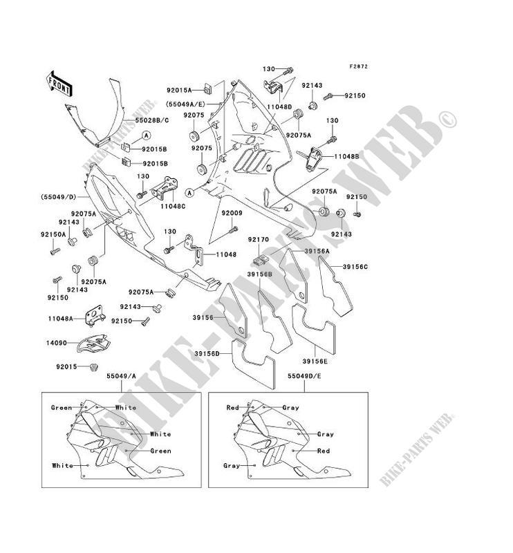 CARENAGE INFERIEUR pour Kawasaki NINJA ZX-9R 1994
