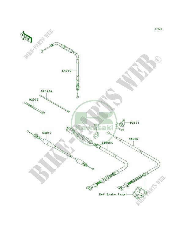 Cables pour Kawasaki Brute Force 750 4x4i 2010 # KAWASAKI