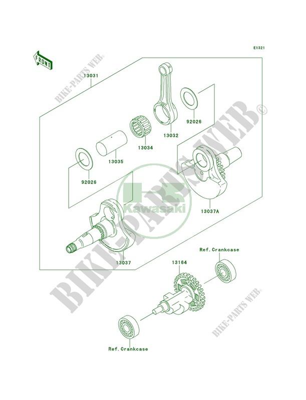 Crankshaft pour Kawasaki Prairie 360 4X4 Realtree APG HD