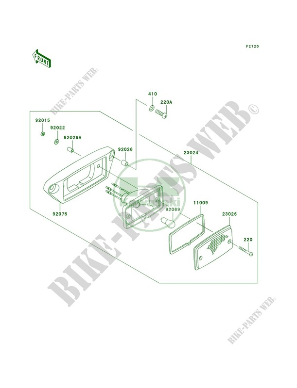 Taillights JKBVFHA1 3B524150 pour Kawasaki Prairie 360 4X4