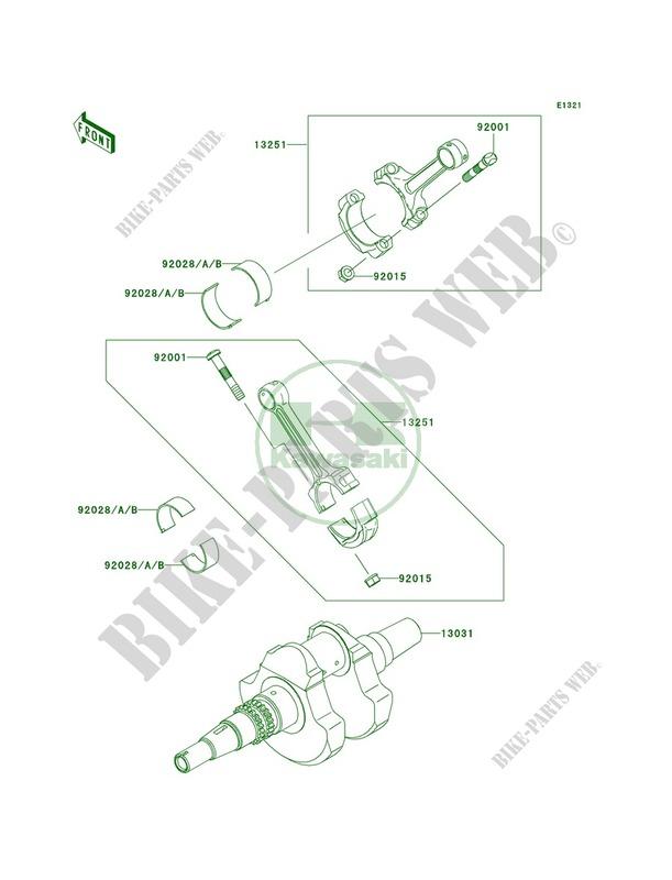 Crankshaft pour Kawasaki Prairie 650 4X4 Advantage Classic