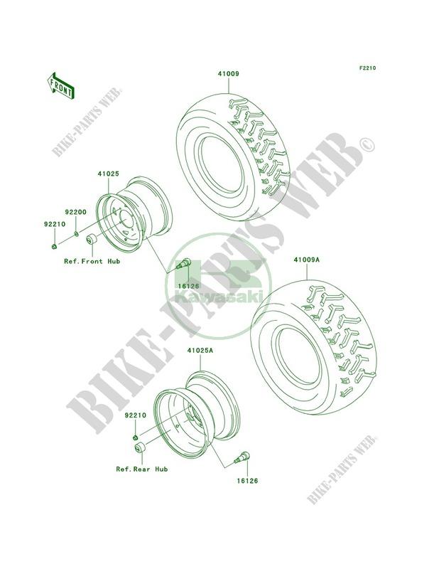 WheelsTires pour Kawasaki Prairie 650 4X4 Advantage