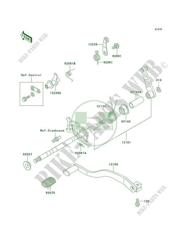 Gear Change Mechanism pour Kawasaki Bayou 300 4X4 2000