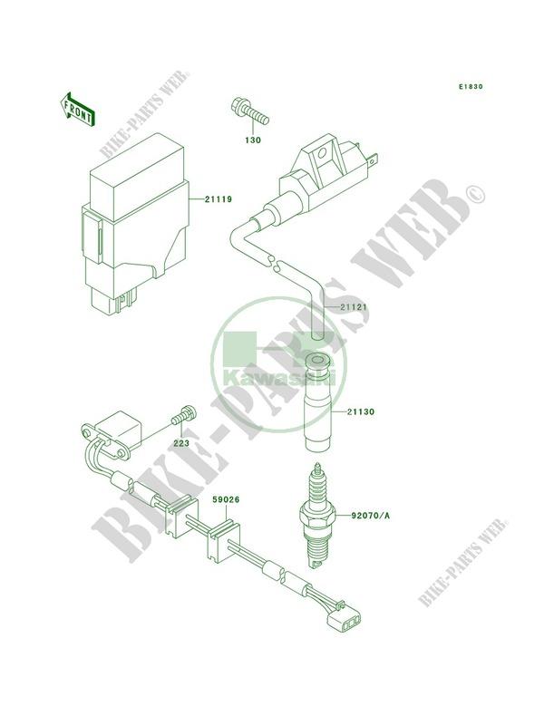 Ignition System pour Kawasaki Prairie 400 4X4 1999
