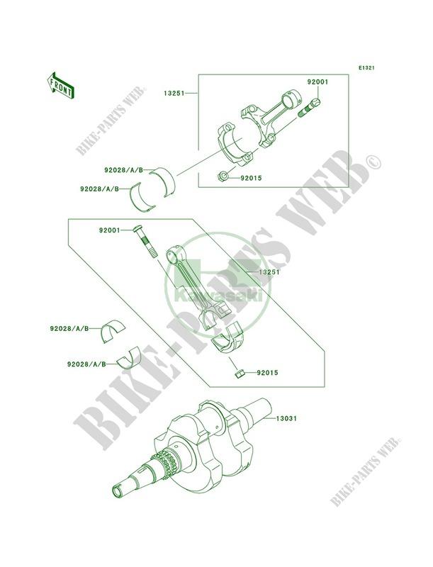 Crankshaft pour Kawasaki KFX700 V Force 2004 # KAWASAKI