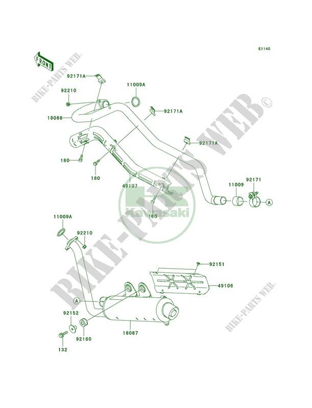 Mufflers pour Kawasaki KFX700 V Force 2004 # KAWASAKI
