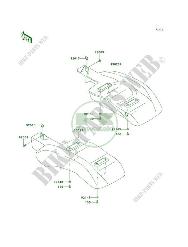 Rear Fenders KAF400C8F MULE 610 4X4 HARDWOODS GREEN HD