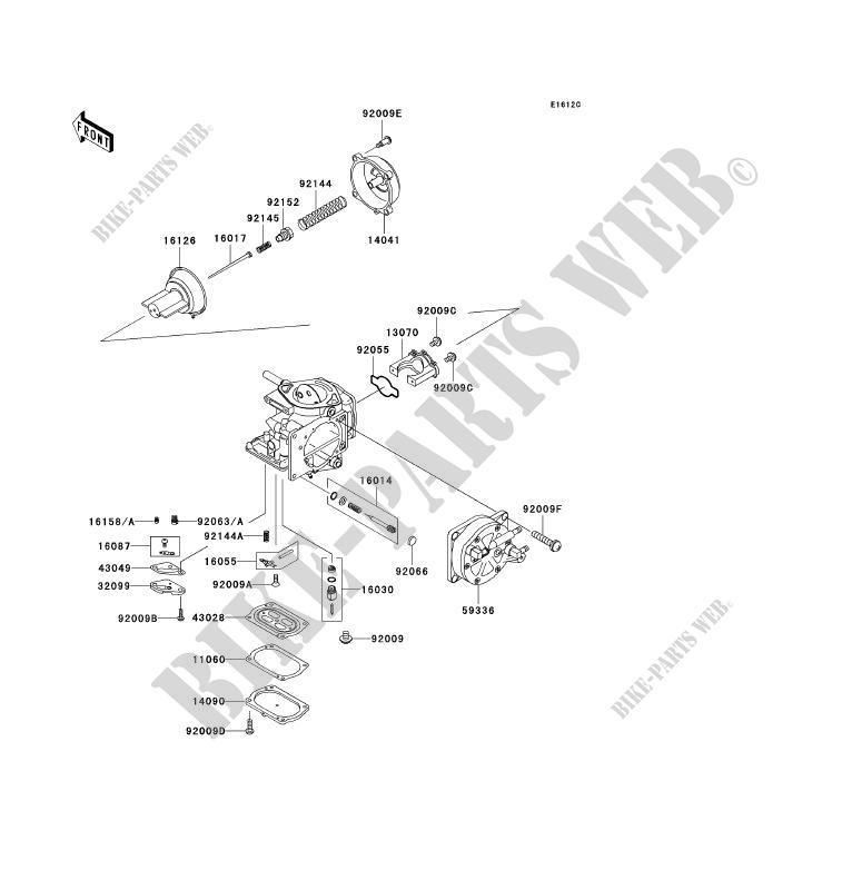 PIÈCES DE CARBURATEUR pour Kawasaki JET SKI 1100 ZXI 2000