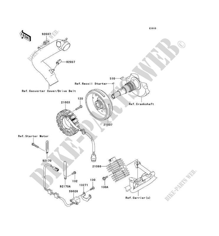 GENERATEUR KVF750 A1 KVF750 4X4 2005 750 QUAD Kawasaki