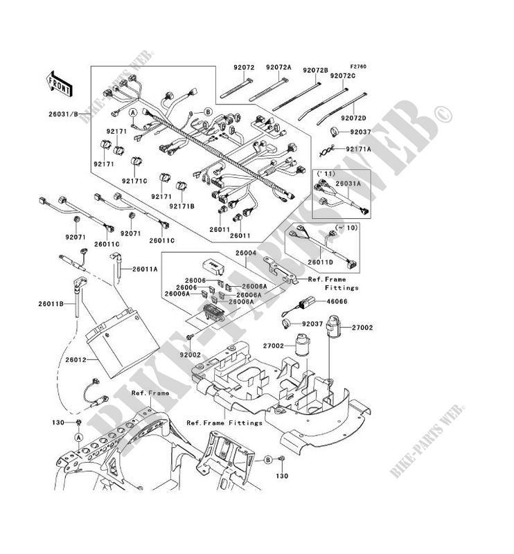 CHASSIS EQUIPMENT ELECTRIQUE pour Kawasaki KVF750 4X4I
