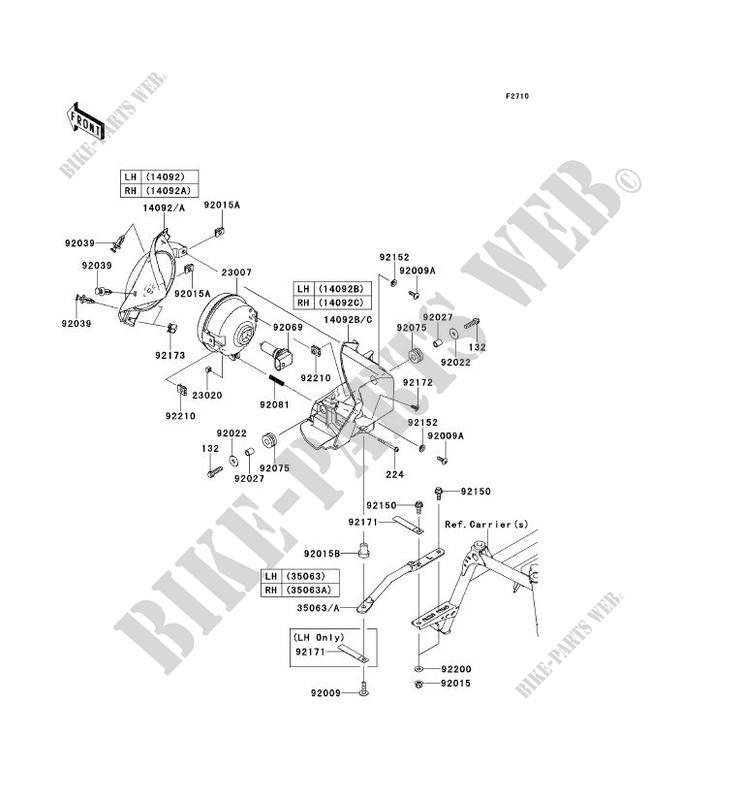 OPTIQUE S KVF750GCF KVF750 4X4 EPS 2012 750 QUAD Kawasaki