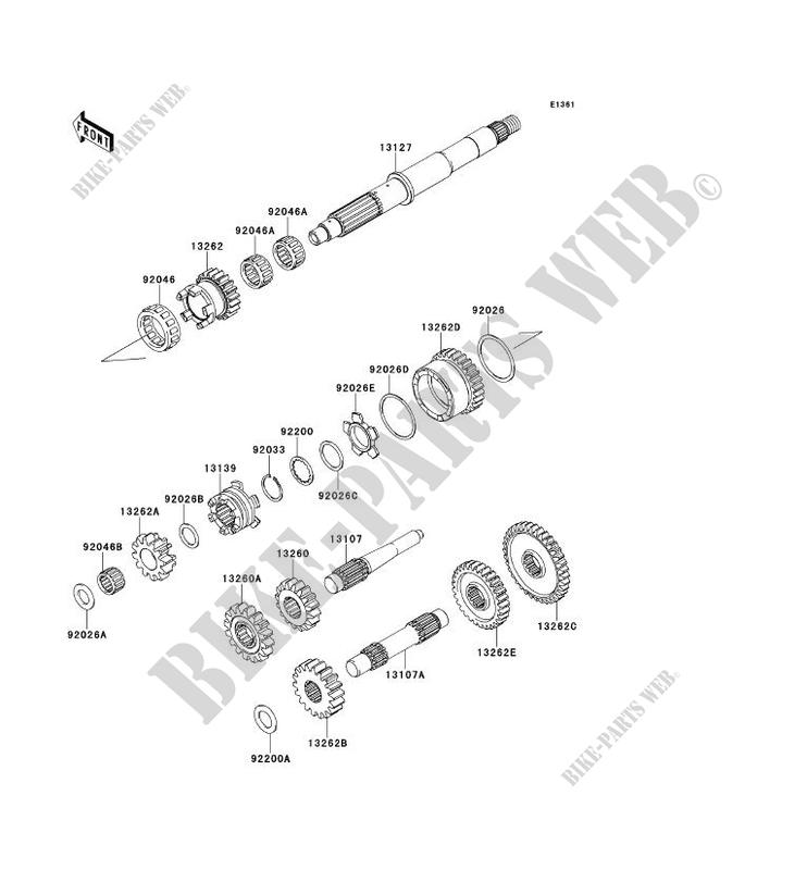 TRANSMISSION pour Kawasaki BRUTE FORCE 750 4X4I EPS 2014