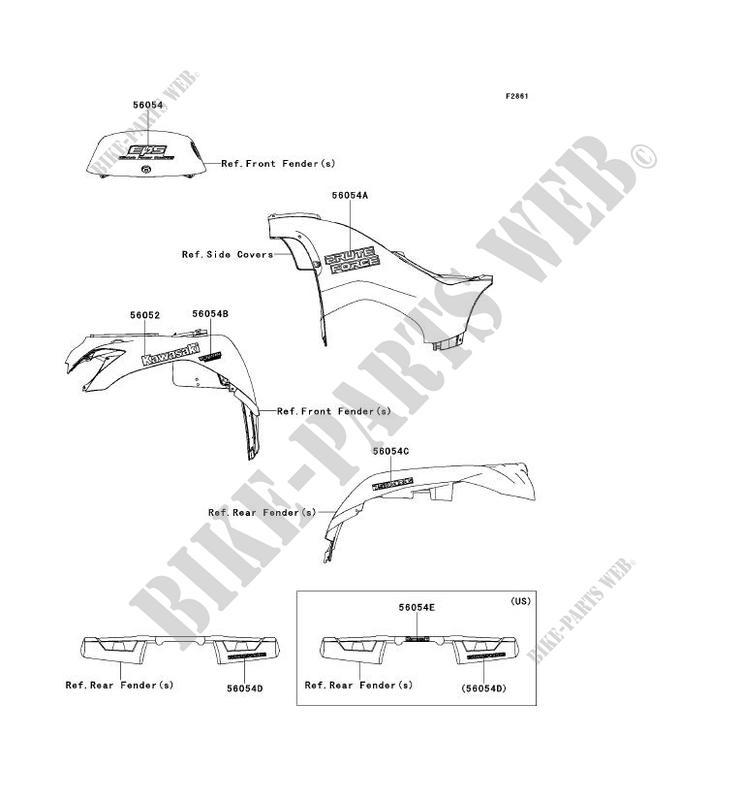 STICKER pour Kawasaki BRUTE FORCE 750 4X4I EPS 2012