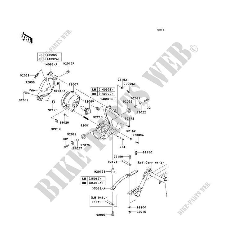 OPTIQUE(S) pour Kawasaki BRUTE FORCE 750 4X4I EPS 2013
