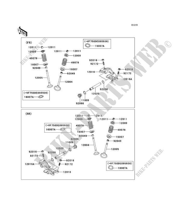 SOUPAPE pour Kawasaki BRUTE FORCE 750 4X4I EPS 2013