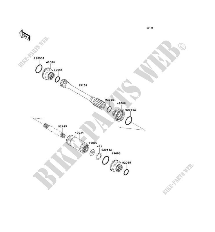 ARBRE DE TRANSMISSION(HÉLICE) pour Kawasaki BRUTE FORCE