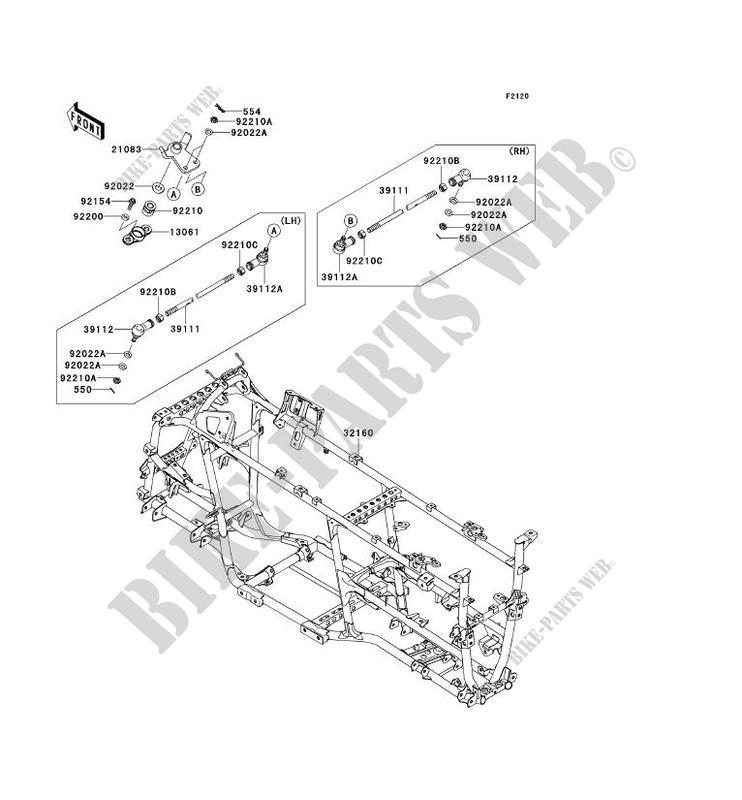 CHÂSSIS pour Kawasaki BRUTE FORCE 750 4X4I EPS 2012
