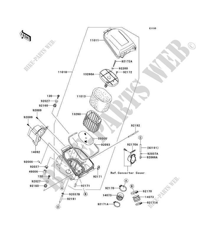 FILTRE A AIR pour Kawasaki BRUTE FORCE 750 4X4I EPS 2012