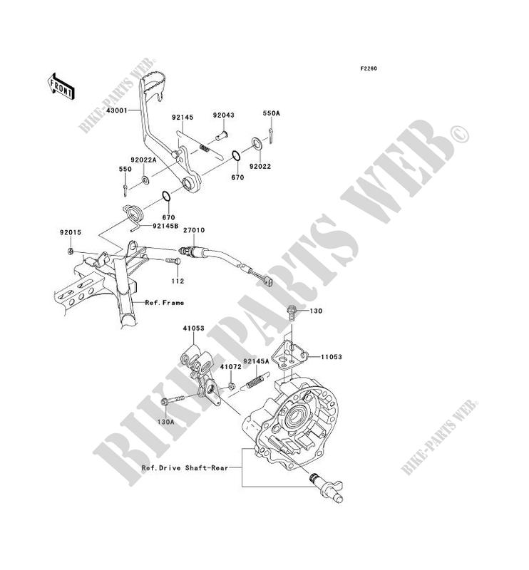 PEDALE DE FREIN pour Kawasaki BRUTE FORCE 750 4X4I EPS