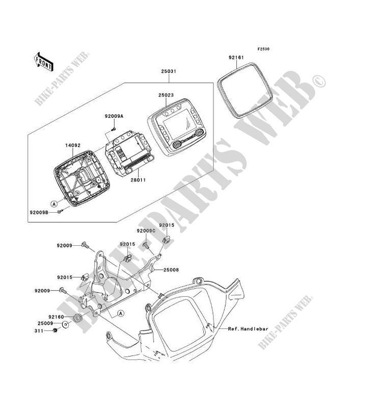 COMPTEURS pour Kawasaki BRUTE FORCE 750 4X4I EPS 2012