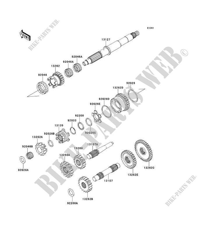 TRANSMISSION pour Kawasaki BRUTE FORCE 750 4X4I EPS 2013