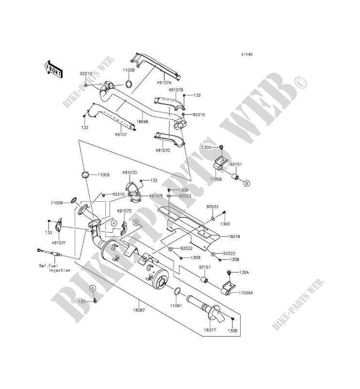 2016 kawasaki brute force 750 wiring diagram jeep tj front suspension echappement kvf750lff 4x4i 2015 quad