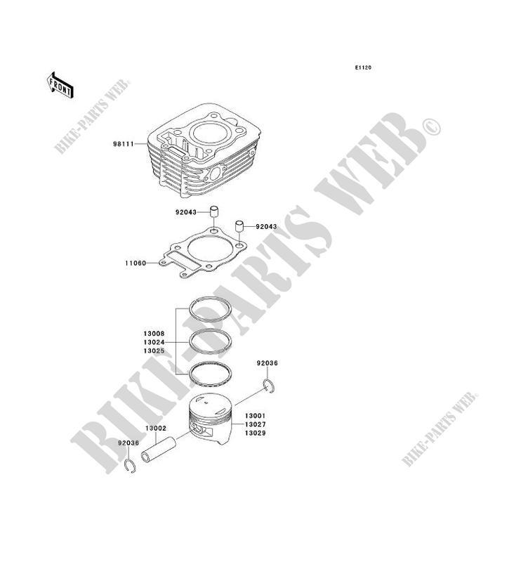 CYLINDRE PISTON BN125 A1 ELIMINATOR 125 1998 125 MOTOS