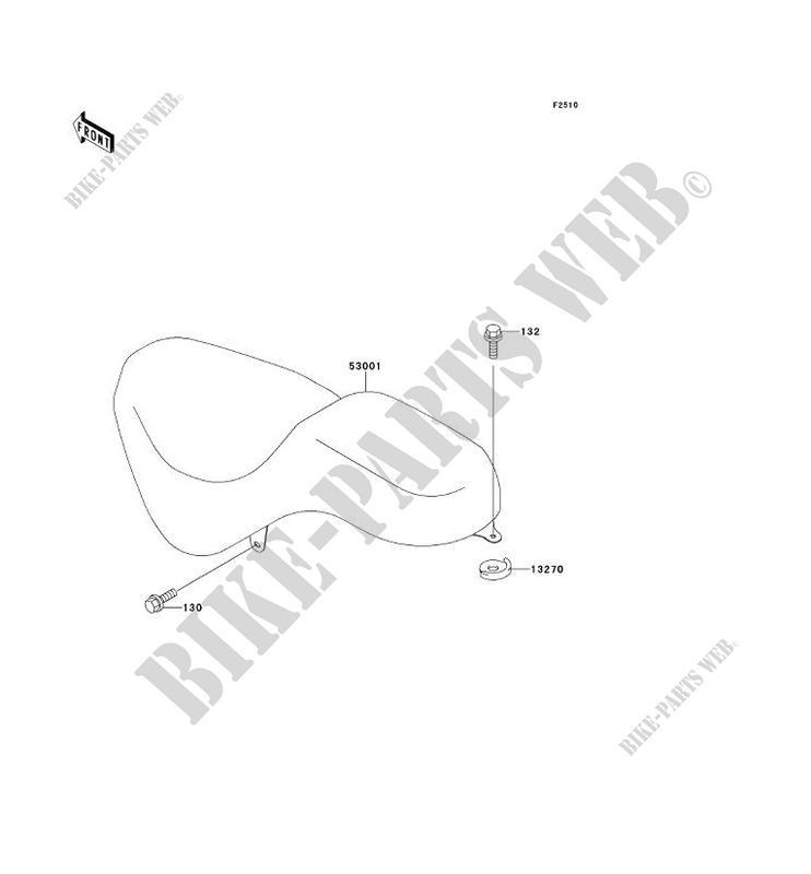 SELLE BN125 A1 ELIMINATOR 125 1998 125 MOTOS Kawasaki moto
