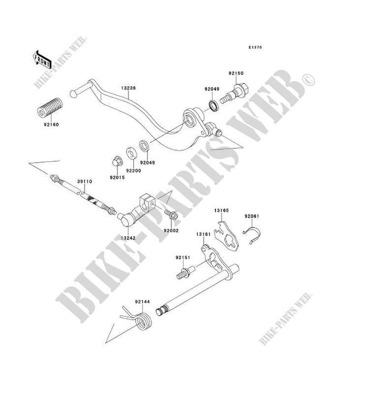 SELECTEUR BN125 A2 ELIMINATOR 125 1999 125 MOTOS Kawasaki