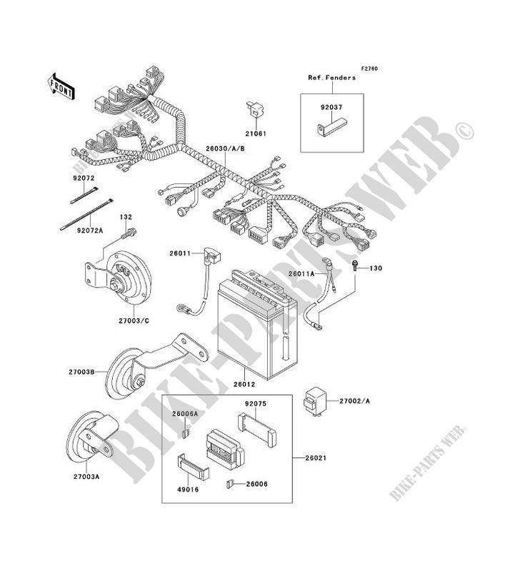CHASSIS EQUIPMENT ELECTRIQUE pour Kawasaki ELIMINATOR 250