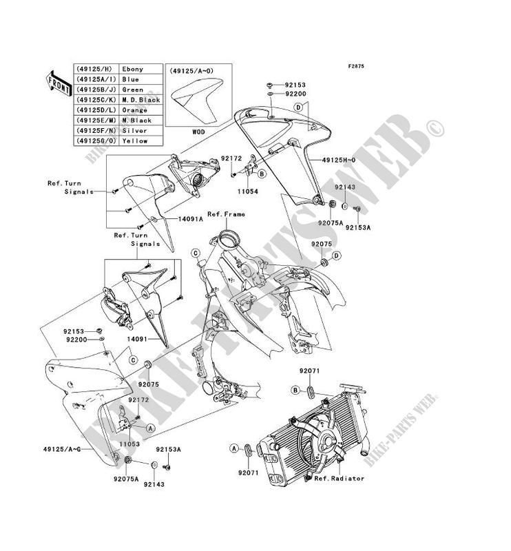 ECOPE ER650B8F ER 6N ABS 2008 650 MOTOS Kawasaki moto