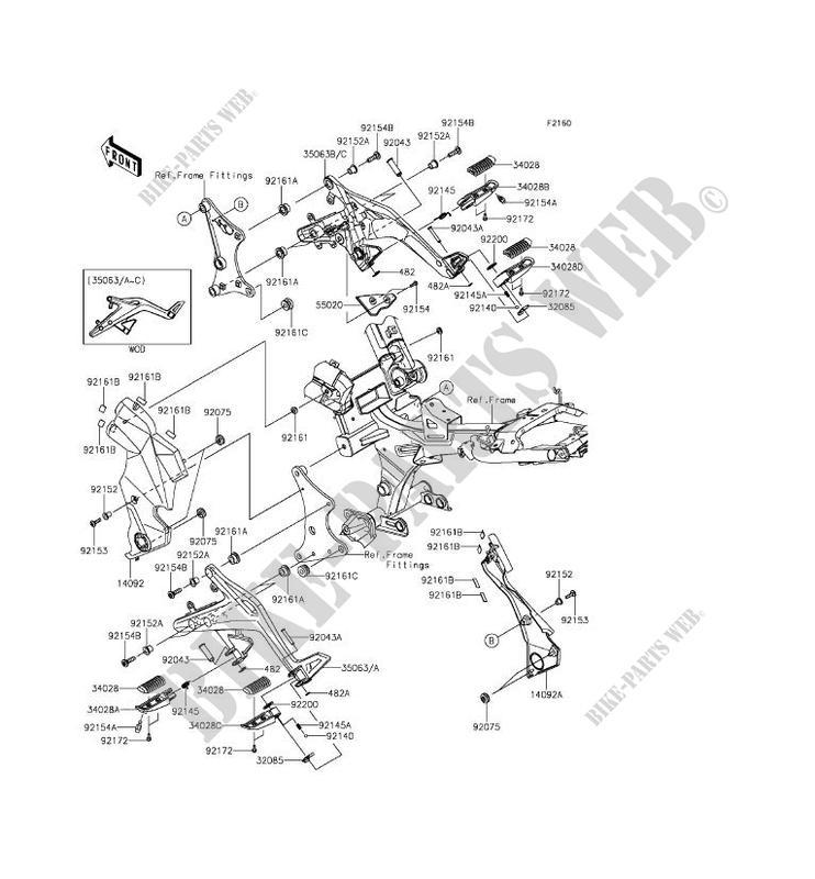 REPOSE PIED ER650ECF ER 6N 2012 650 MOTOS Kawasaki moto
