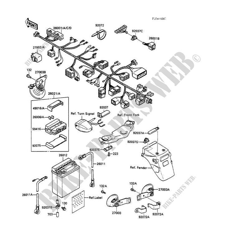 CHASSIS EQUIPMENT ELECTRIQUE EX500 A2 GPZ500S 1988 500