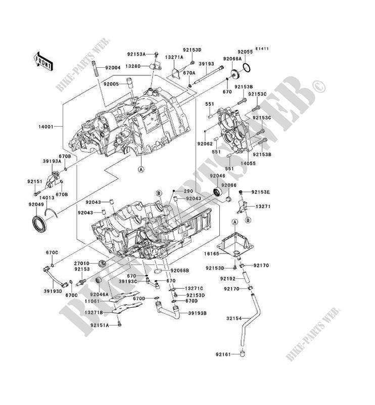 CARTER MOTEUR(S)( ER650AE057323) pour Kawasaki ER-6F ABS