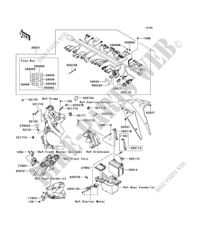 CHASSIS EQUIPMENT ELECTRIQUE pour Kawasaki ER-6F ABS 2006