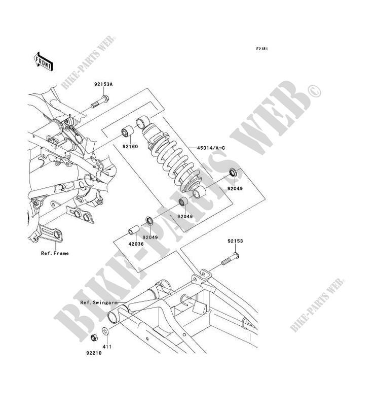 SUSPENSION/AMORTISSEUR pour Kawasaki ER-6F ABS 2006