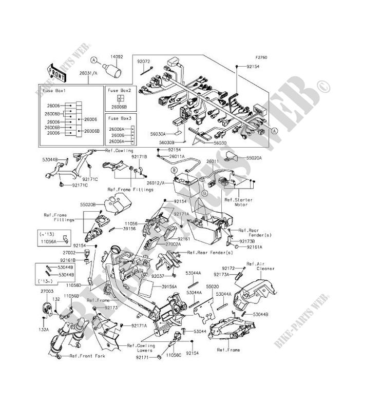 CHASSIS EQUIPMENT ELECTRIQUE pour Kawasaki ER-6F ABS 2012