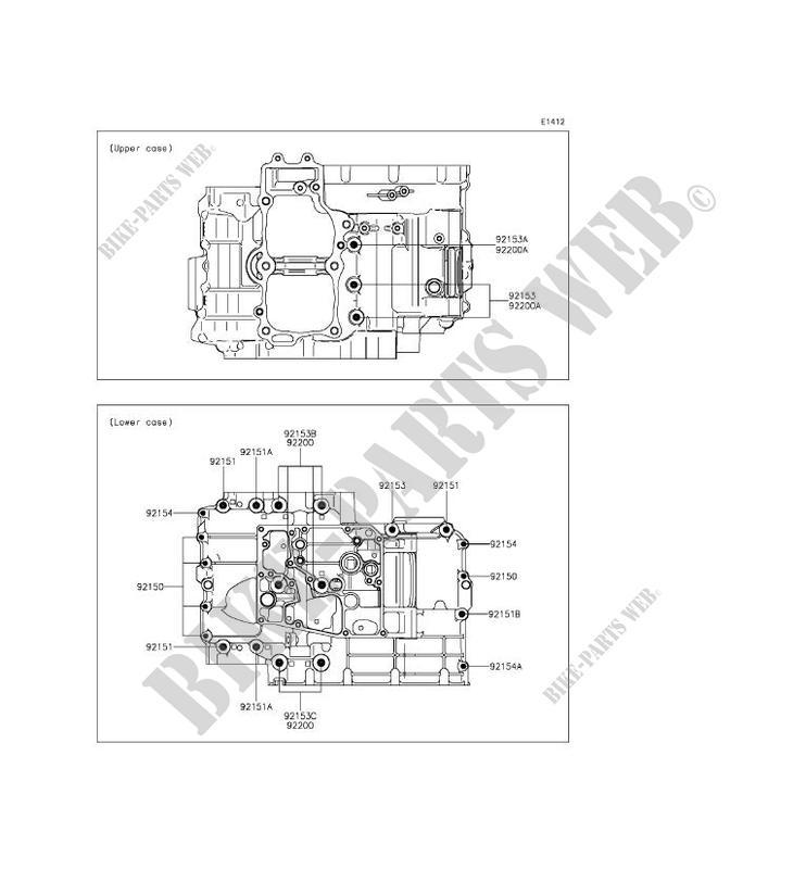 BOULON CARTER MOTEUR pour Kawasaki ER-6F ABS 2014