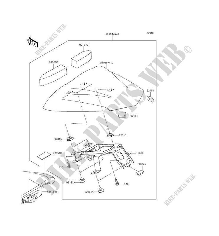 ACCESSOIRE (COUVRE SELLE) pour Kawasaki ER-6F ABS 2014