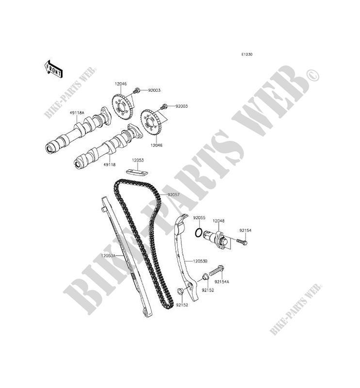 ARBRE A CAME/TENDEUR pour Kawasaki ER-6F ABS 2014