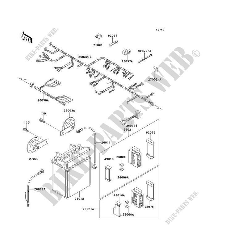 CHASSIS EQUIPMENT ELECTRIQUE KLE500 A3 KLE500 1993 500