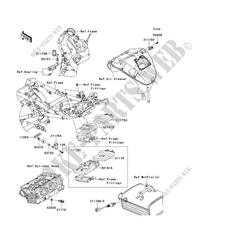 INJECTION CARBURANT pour Kawasaki VERSYS 650 2007