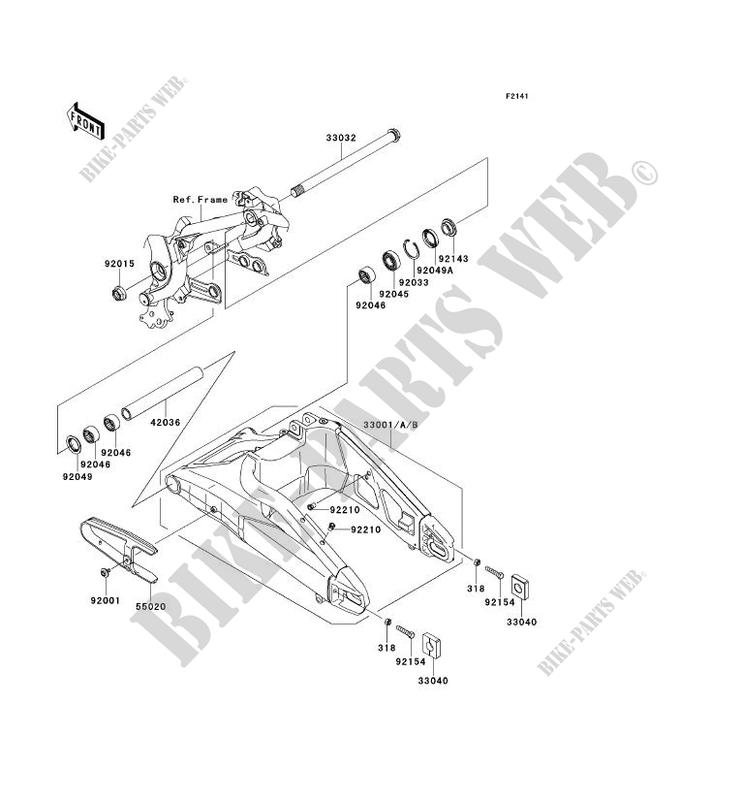 BRAS OSCILLANT KLE650CDF VERSYS 650 2013 650 MOTOS