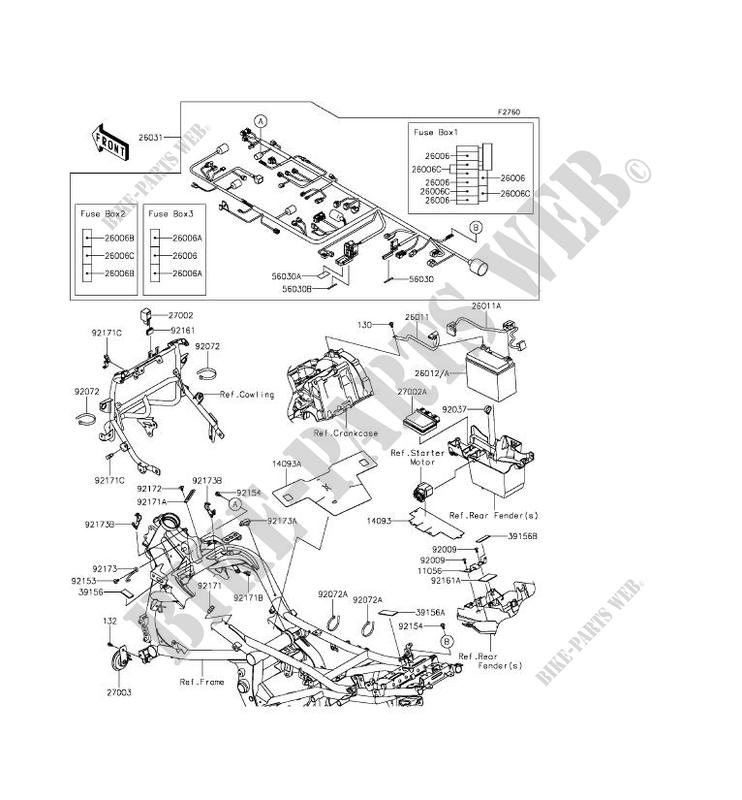 CHASSIS EQUIPMENT ELECTRIQUE pour Kawasaki VERSYS 650 ABS