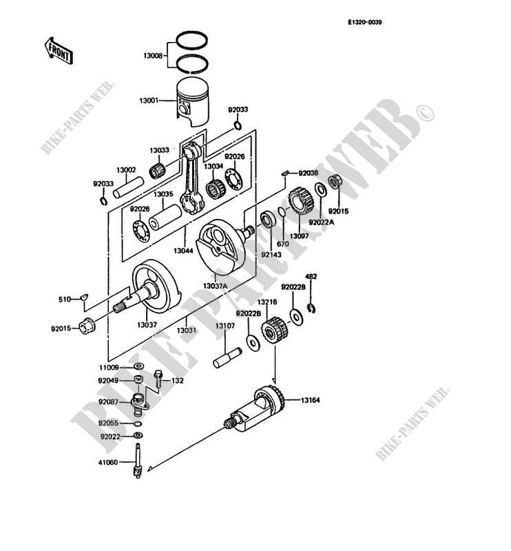 VILEBREQUIN PISTON KMX125 A4 KMX125 1989 125 MOTOS