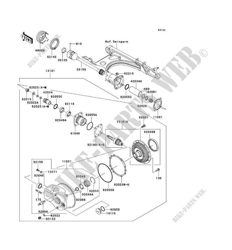 ARBRE DE TRANSMISSION/TRANS.FINALE pour Kawasaki VN1500