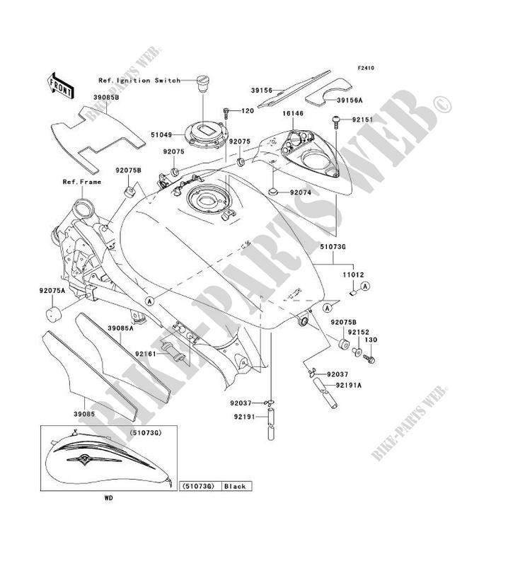 RESERVOIR CARBURANT pour Kawasaki VN1500 MEAN STREAK 2002