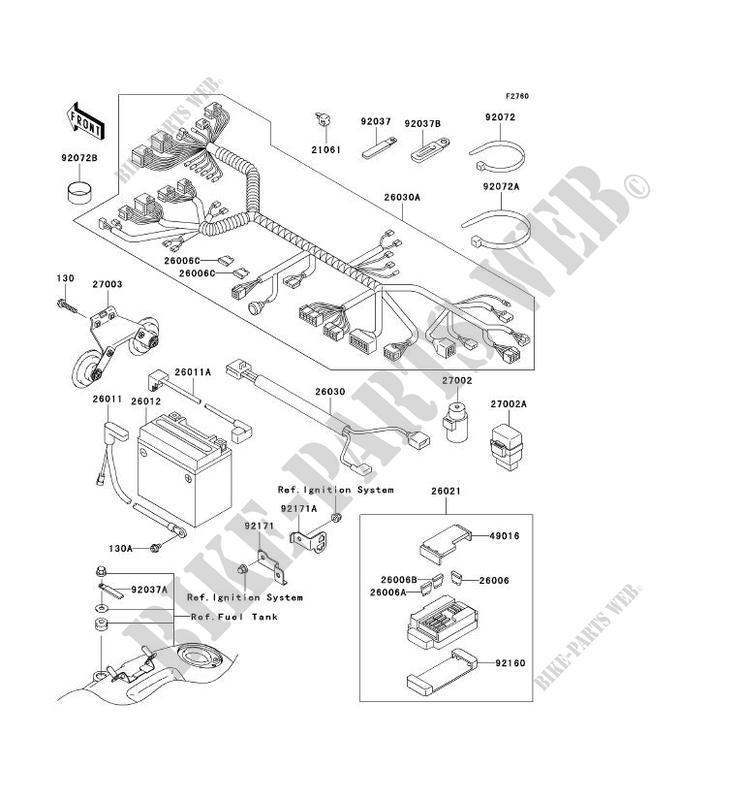 CHASSIS EQUIPMENT ELECTRIQUE pour Kawasaki VN1500 CLASSIC